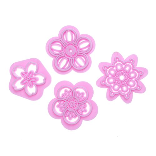 TraveT Flower Cake Embosser Press Mold Biscuit Stamps Fondant Sugarcraft