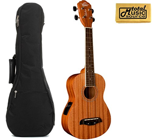 Oscar Schmidt Concert Active EQ, Acoustic Electric Ukulele, OU2E w/Padded Gigbag & PC by Oscar Schmidt