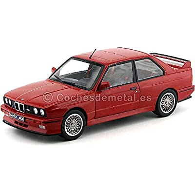Solido S1801502 1990 BMW E30 M3 Die Cast Car, Red, 1:18 Scale: Toys & Games