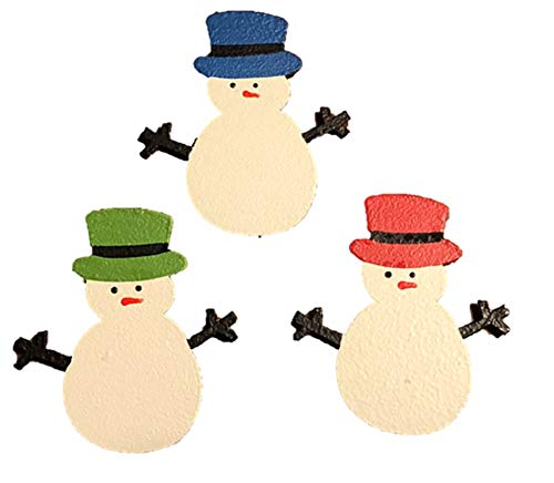 Roeda Brighten Your Life 12304W Snowman with Top Hat Set of 3 Assorted Magnets Made in USA