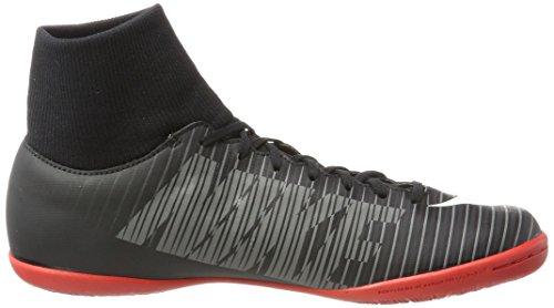 Nike Herren Guide 10 Fußballschuhe Schwarz (Black/white/dk Grey/univ Red)