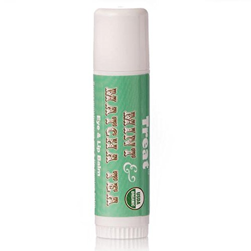 TREAT Jumbo Lip Balm - Mint & Matcha Tea Eye & Lip Balm, Organic & Cruelty Free (.50 OZ)