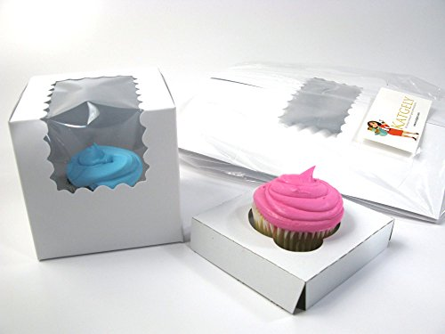 Katgely Individual Cupcake Boxes with Insert, Pack of 20