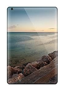 Lori Hammer's Shop 8051465J21226664 Ipad Mini 2 Hard Back With Bumper Silicone Gel Tpu Case Cover Clam Beach