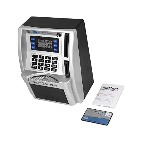 CloverUS ATM Savings Bank Insert Bills Perfect for Kids Gift Dollar Currency Detector by CloverUS