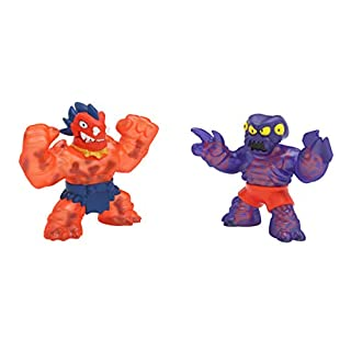 Heroes of Goo Jit Zu Dino Power Versus Pack - 2 Action Figures - Volcanic Rumble - Blazagon vs. Redback | Includes 2 Exclusive Heroes | for Ages 3+