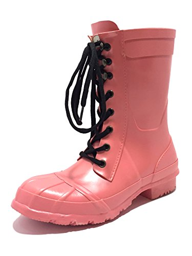 Rockfish Ladies Womens Short & Lacey Handmade Wellington Boots Fully Waterproof Outdoor Equestrian Country Horse Riding Festival Calf Short Durable Wellies Size 3 4 5 6 7 8 Blossom qGCXK7eNY