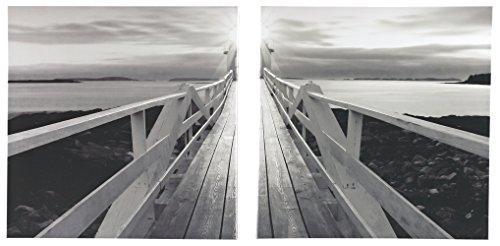 Ashley Furniture Signature Design - Beagan Wall Art - Giclee Canvas Reproduction - Contemporary - Set of 2 - Black/White