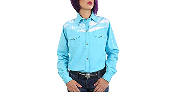 Last Rebels Country Line Dance - Camisa para Mujer, Color Turquesa: Amazon.es: Ropa y accesorios
