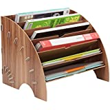 PENGKE File Sorter Organizer 6 Slots,Fan Shaped Mail Letter Document Magazine File Folder Holder,Office Desktop…