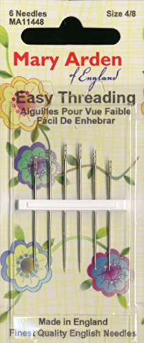 Colonial Needle 6 Count Mary Arden Self/Easy Threading Assorted Needles, Size 4/8