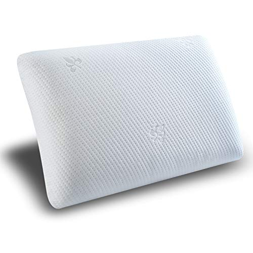 Top Finel Natural Latex Pillow Memory Foam Hypoallergenic Pillow Anti-dust Cooling Pillow for Neck Pain Relief,Standared -