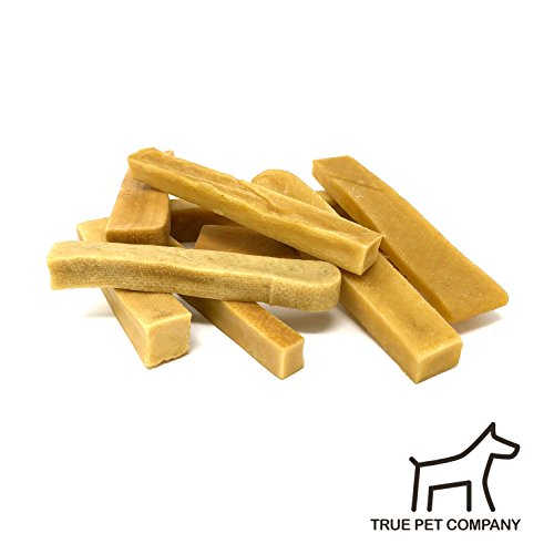 True Pet Himalayan Premium Yak Milk Cheese Sticks - Dog Treats - Value Pack - 100% Natural & Healthy Snack - Long Lasting, No Odor, No Preservative, and No Gluten - SIMPLE IS AWES (Pack of 15) (5 lb)