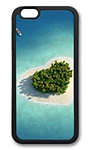 MOKSHOP Adorable Heart shaped at sea Soft Case Protective Shell Cell Phone Cover For Apple Iphone 6 (4.7 Inch) - TPU Black