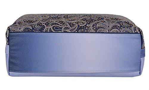 Sac Cuir Sac Main en Sac Epaule Bandoulière Femme Creux à Main à à Rétro porté fourre Sac Bleu tout LATH PIN Sac PU 6gqH5vgw