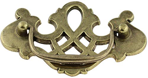 Chippendale Antique English Drawer Bail Pull Handle Centers: 3