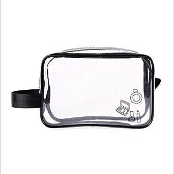 61081a63fe7c Clear Cosmetic Bag TSA Air Travel Toiletry Bag Set with Zipper Vinyl ...
