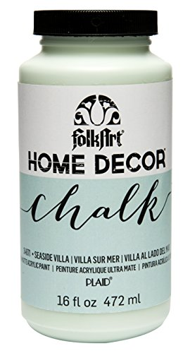 FolkArt 34871 Home Decor Chalk Furniture & Craft Paint in Assorted Colors, 16 ounce, Seaside Villa]()