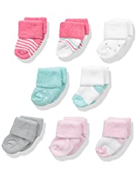 Luvable Friends Baby 8 Pack Newborn Socks