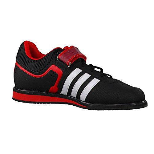 ADIDAS Powerlift 2 Adult Weightlifting Shoe, Black/White/Red, US11.5