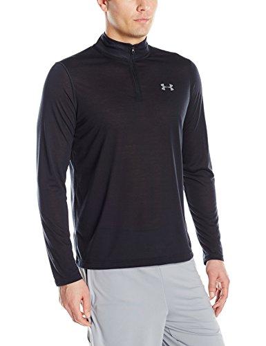 Under Armour Men's Threadborne Siro 1/4 Zip, Black/Graphite, Medium (Shirt Quarter Zip)