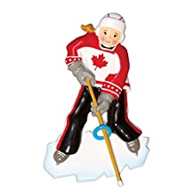 Grantwood Technology Personalized Christmas Ornaments Sports Indoor Outdoor Gym Ringette/Personalized by Santa/Hockey Ornament/Girl Hockey Ornament