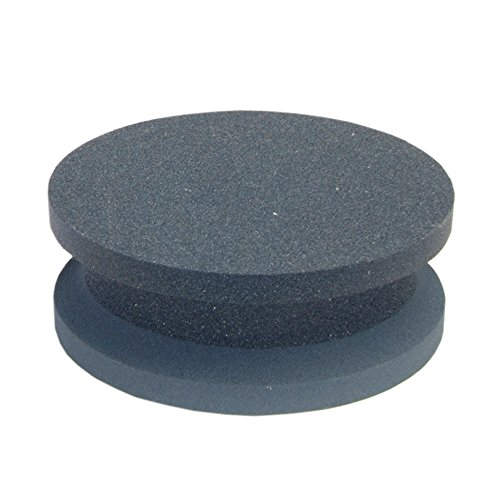 Norton Crystolon Abrasive Machine Knife Stone, Silicon Carbide, 4'' Diameter x 1-1/2'' Thickness, Grit Coarse/Fine (Pack of 5) by Norton Abrasives - St. Gobain