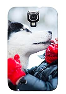 598826a2098 Crazylove Awesome Case Cover Compatible With Galaxy S4 - Husky Winter Dog Child Mood Love