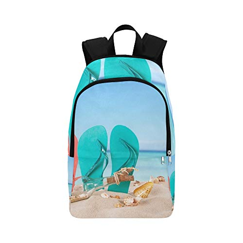 (GIRLOS Summer Concept Colored Sandals On Beach Casual Daypack Travel Bag College School Backpack for Mens and Women)