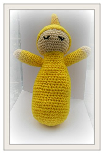 Amigurumi crochet stuffed yellow Sleeping Baby childrens toy animal plush child toy handmade collectable gift