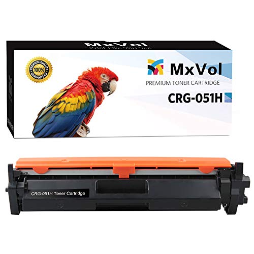 MxVol Compatible Canon 051H 051 CRG-051H High Capacity Toner Cartridge, High Yield 4,100 Pages Cartridge Replacement for Canon imageCLASS LBP162dw LBP160 Printer Series - 1 Pack Black ()