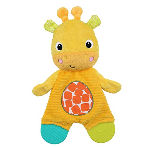 Bright Starts Snuggle Teethe Plush Teething Baby Toy – Giraffe, Crinkle Fabric, Ages 0 Months