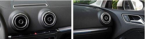 M/étal Mat Int/érieur Cener Console Side Air Condition de sortie da/ération pour Trim 4 pcs pour A3 2012-2016 accessoire Auto
