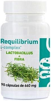 REQUILIBRIUM ICOMPLEX - (Probiótico + L-Gasseri + FOS + Alcachofa + Psylliyum) 90 cápsulas 660 mg