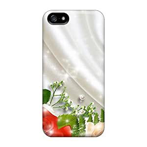 Protective PC Case With Fashion Design For SamSung Galaxy S5 Phone Case Cover (roses On White Satin)