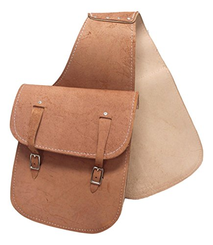 Buckskin Colored Roughout Western Saddle Bags Made in USA Horse (Equestrian Saddlebag)