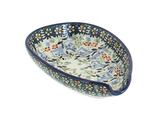 - Blue Rose Polish Pottery Periwinkle Small Spoon Rest