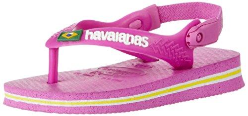 Havaianas Baby Brasil Logo Flip Flop (Toddler),Light Pink,20 BR (6 M US Toddler)