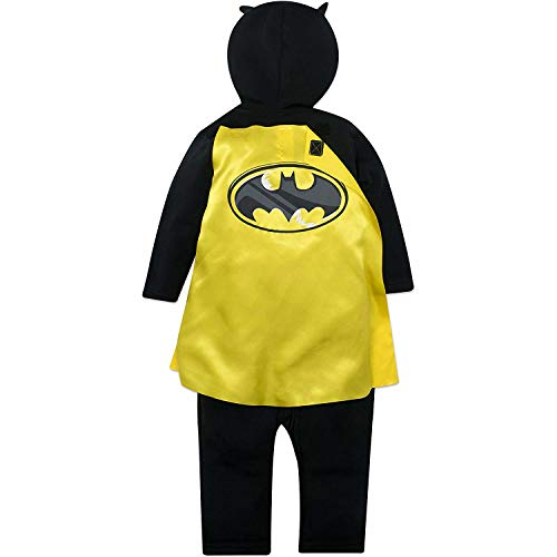 Justice League Batman Boys Hooded Costume Coverall /& Cape Warner Bros