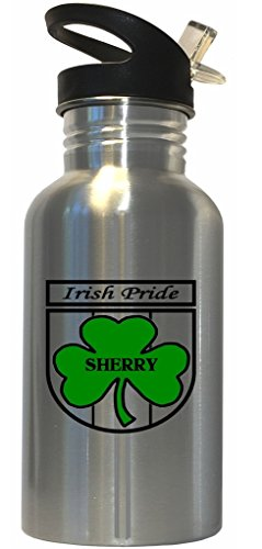 Sherry - Irish Pride Stainless Steel Water Bottle Straw Top