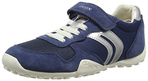 Geox Jr Snake Girl a, Zapatillas Para Niñas Azul (DENIMC4008)