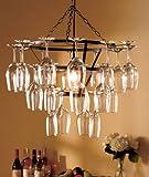 Wine Glass Rack Chandelier Metal