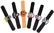 ULTECHNOVO 6pcs Halloween Slap Bracelets - Funny Wristbands Slap Bands Toy Bracelets Bulk for Kids Children Ha