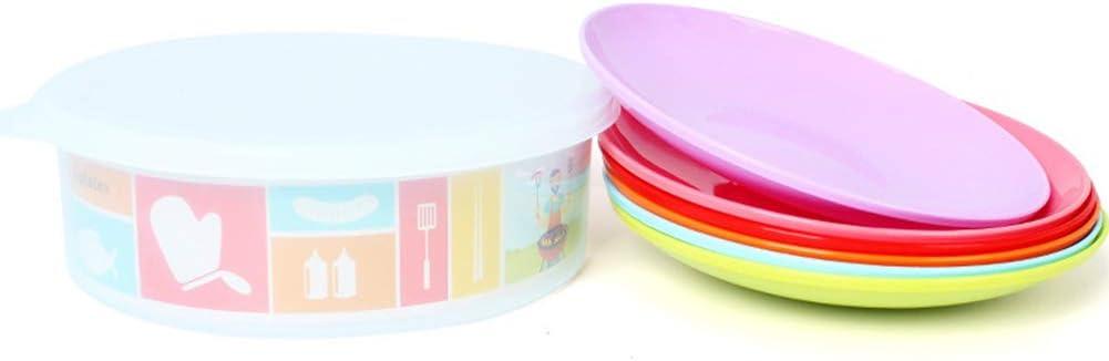 Xiton Los Platos 6pcs Bandeja de plástico vajilla Portable ...