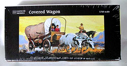 Glencoe Covered Wagon Prairie Schooner Plastic Model Kit 1:48 Scale