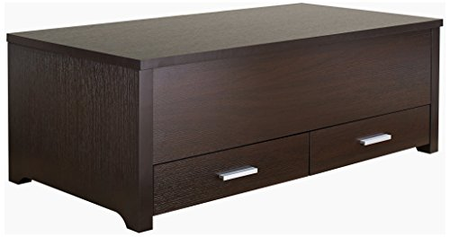 24/7 Shop at Home 247SHOPATHOME ID-11417CT Coffee Table, Brown