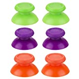 YoRHa 3 x Pair Replacement Original Material Thumbstick Analog Buttons Custom Colourful for DualShock 4 PS4/Slim/PRO Controller Spare Parts Accessories Modded (Green+Orange+Purple)