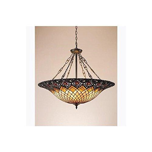 Quoizel TF1901VB Tiffany Bowl Foyer Pendant Lighting - 6-Light - 600 Watts - Vintage Bronze (28