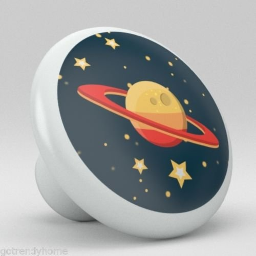 Cute Mars Moon Space Nursery Ceramic Knobs Pull Closet Dresser Drawer 2005 by gotrendyhome