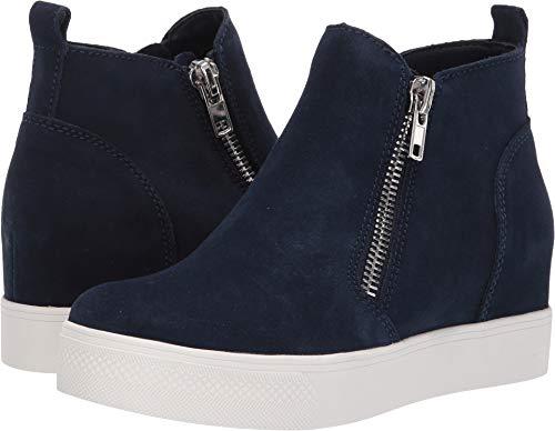 Steve Madden Women's Wedgie Sneaker Navy Suede 5 M US